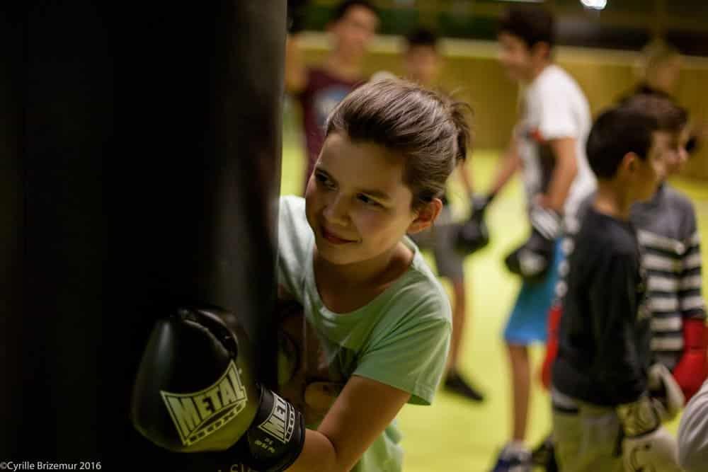 Entrainement de boxe française enfants
