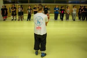 L'entraînement de boxe française des pratiquants loisirs