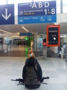 Koko à l'aéroport