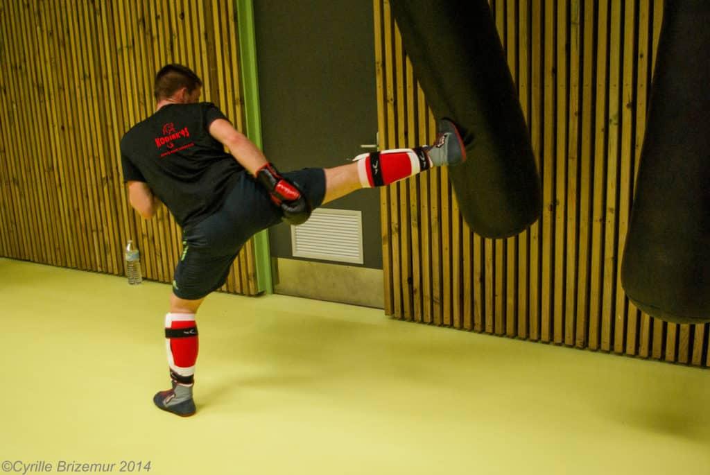 Jacky Roy à l'entraînement de boxe française du Kodiak'95