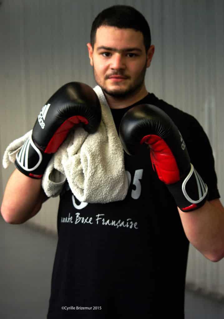 Mohammed Boussoufa du Kodiak'95 au challenges Ile-de-France de boxe française 2013
