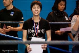 Lisa Fauveau vice-championne d'Ile de France cadette 2015 de boxe française