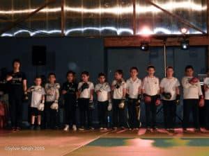 Boxe française: les enfants du Kodiak'95 au festival des arts martiaux 2015