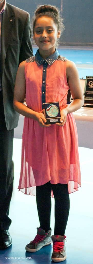 Zahra Slimani aux trophées de la ville de Jouy le Moutier 2014