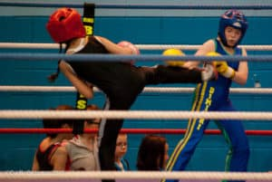 Zahra Slimani du Kodiak'95 championne IDF de boxe française 2015