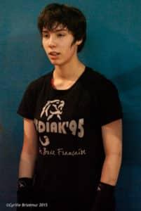 Lisa Fauveau du club de boxe française Kodiak'95
