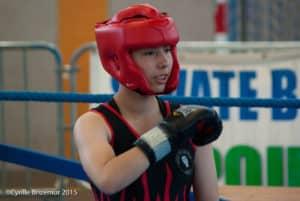 Lisa Fauveau du Kodiak'95 à la Coupe du Val d'Oise 2015 de boxe française