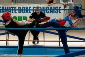Zahra Slimani du Kodiak'95 à la Coupe du Val d'Oise 2015 de boxe française