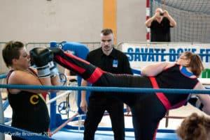 Sylvie Singh du Kodiak'95 à la Coupe du Val d'Oise 2015 de boxe française