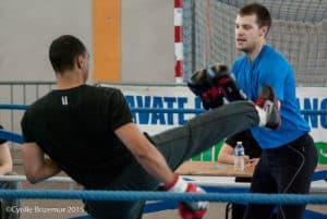 Pierre Tourillon du Kodiak'95 à la Coupe du Val d'Oise 2015 de boxe française
