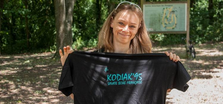 Le tee-shirt 2015 du Kodiak'95, le club de boxe française de Jouy Le Moutier