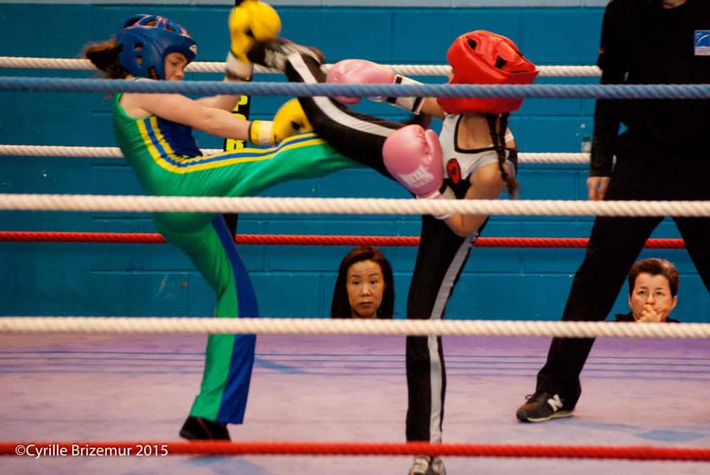 Zahra Slimani compétition de boxe française 2015