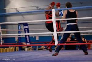 Pierre Tourillon du Kodiak'95 aux challenges IDF 2016 de boxe française