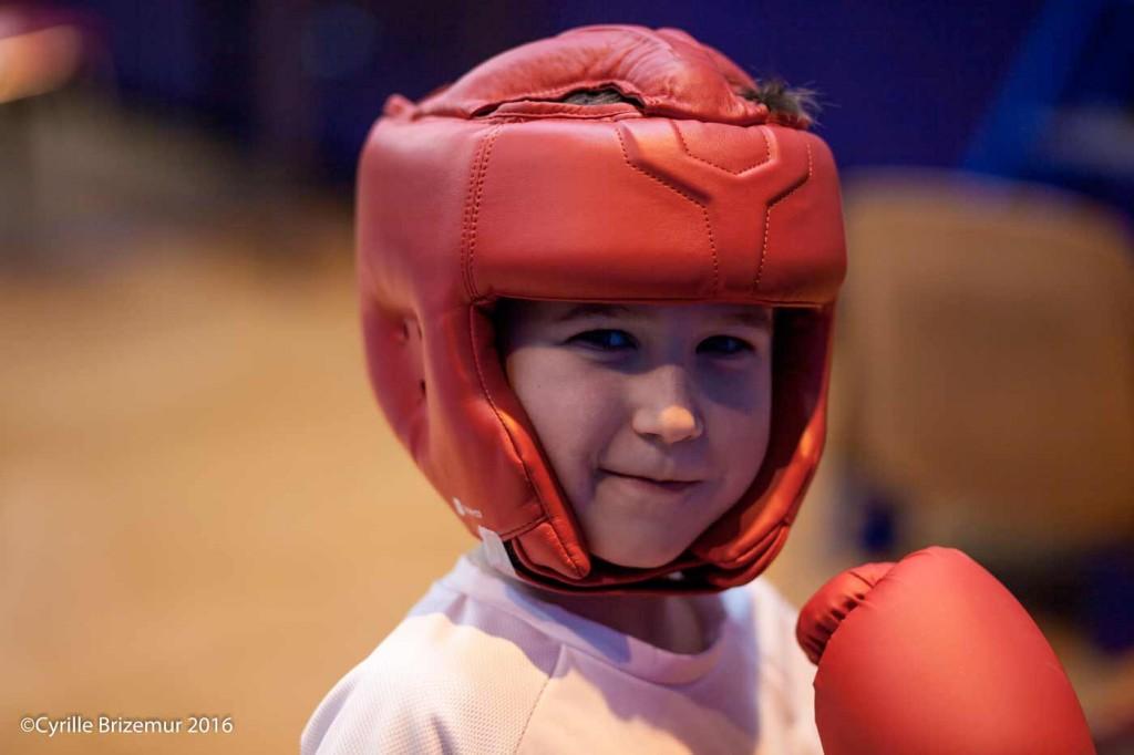 Benjamin, vainqueur du trophée Kangourou de boxe française 2016