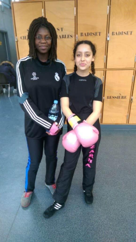 Zarha Slimani et Aicha Coulibaly aux qualifications IDF de boxe française 2017