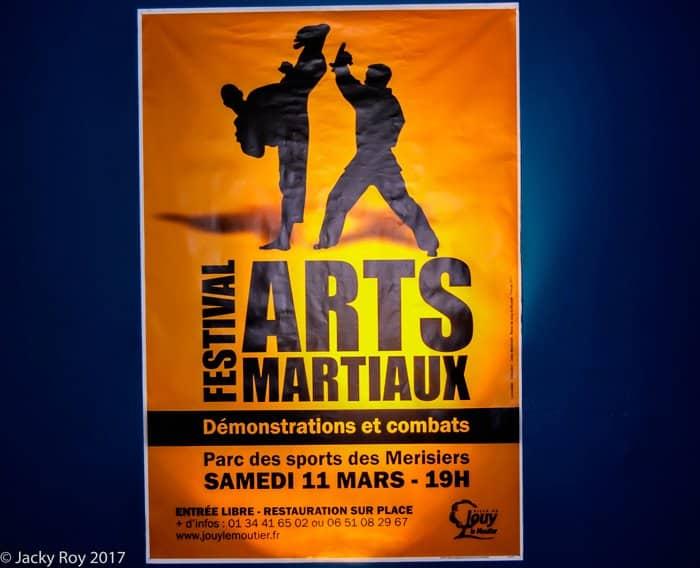La boxe française enfants en démonstration au festival des arts martiaux 2017 de Jouy Le Moutier (95)
