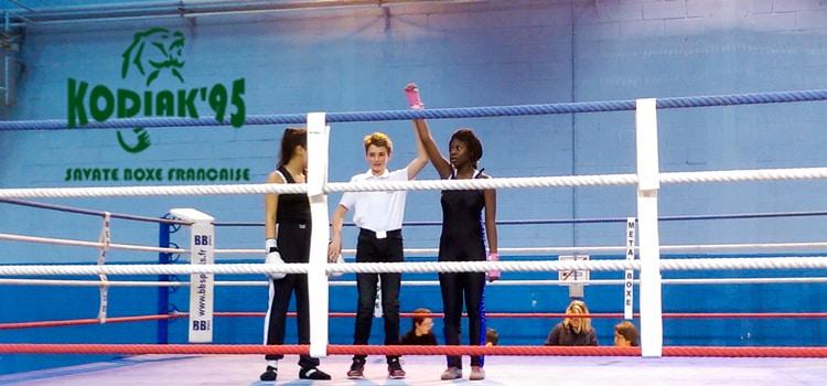 Championnat Ile de France 2017 de boxe française jeunes - Aisha Coulibaly