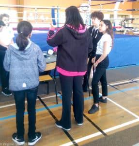Championnat Ile de France 2017 de boxe française jeunes - Zarha Slimani