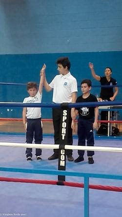 Benjamin Donnedieu de Vabres au tournoi de boxe française des Mille Gants