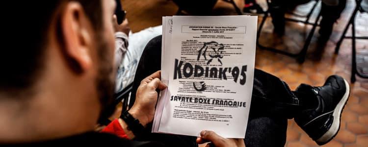 Assemblée générale 2017 du Kodiak'95, le club de Savate Boxe Française pour tous de Jouy Le Moutier (Val d'Oise)