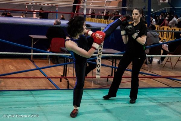 Lisa Fauveau aux challenges IDF de savate boxe française 2018