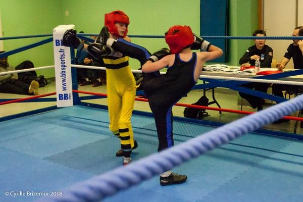 Maxence Jager au championnat jeunes de savate boxe française 2018