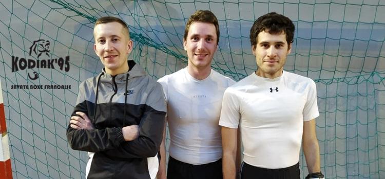 Thibaut, Virgile et Florian sur le ring