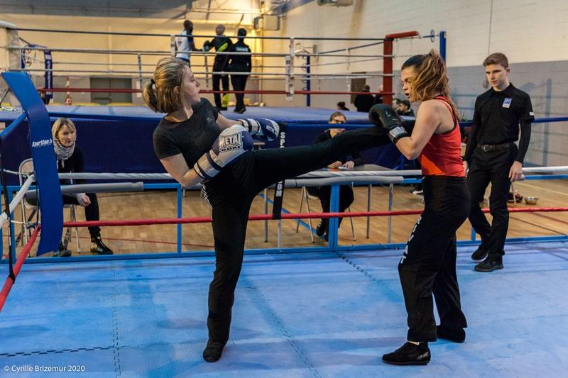 Alicia Tampon au championnat IDF de boxe française