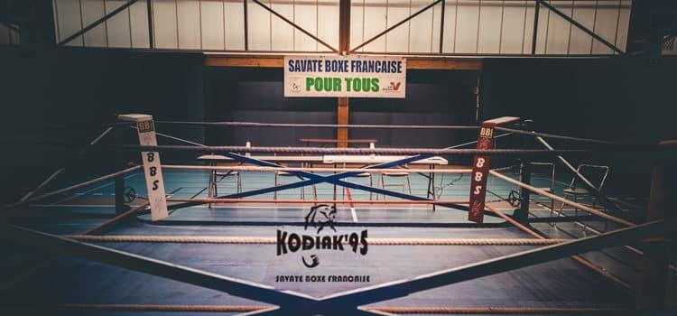 Les jeunes boxeurs du Kodiak'95 sur le ring