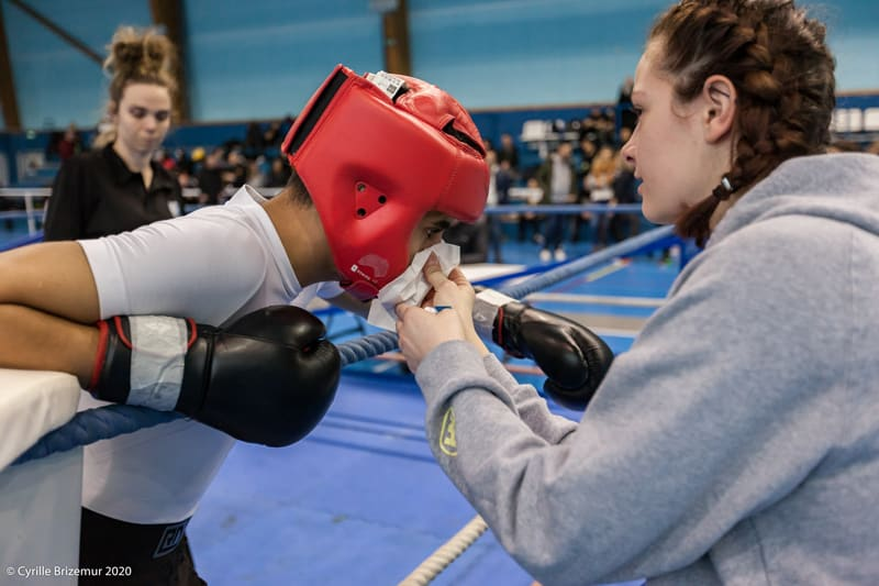 Wassim Benrekkab au Championnat départemental jeunes de savate boxe française 2020