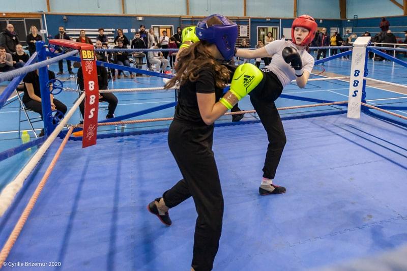Marie-Ève Dusoulier au Championnat départemental jeunes de savate boxe française 2020