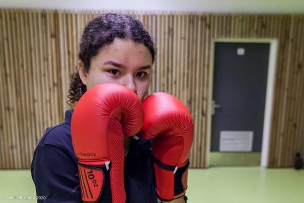 Erika Moroni aux championnats de boxe française 2020