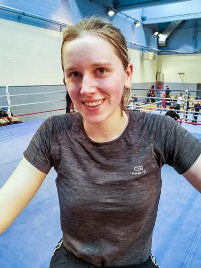 Alicia Tampon aux championnats de boxe française 2020